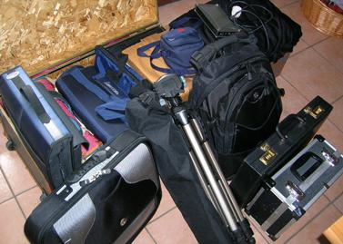 le attrezzature ai blocchi di partenza